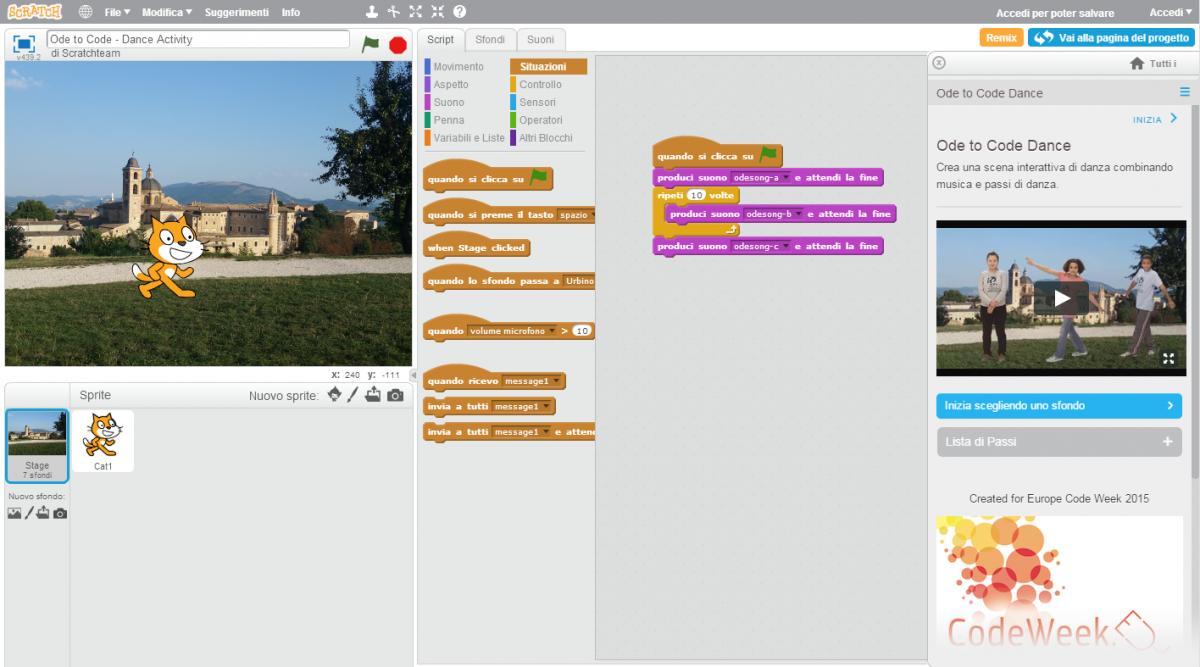 Una nuova sezione di Scratch dedicata a Europe Code Week!