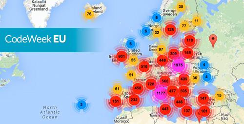 Più dimezzo milione di partecipanti a Europe Code Week 2015.