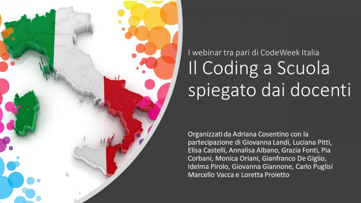 I webinar tra pari di CodeWeek Italia
